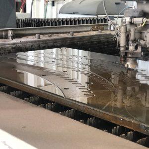 gear segment waterjet cutting
